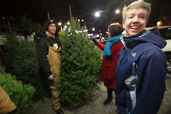 Christmas Tree Vendors Set Up Shop On New York City's Sidewalks