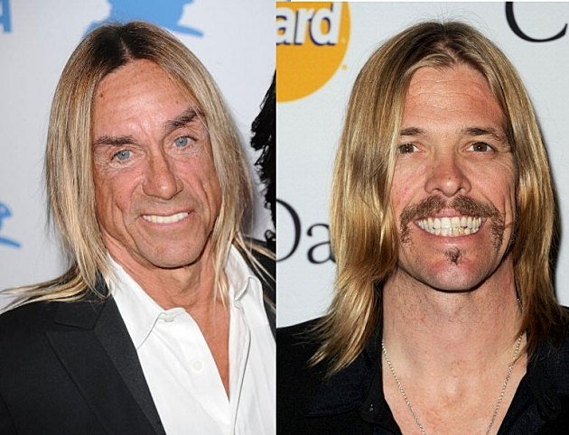 Iggy Pop and Taylor Hawkins