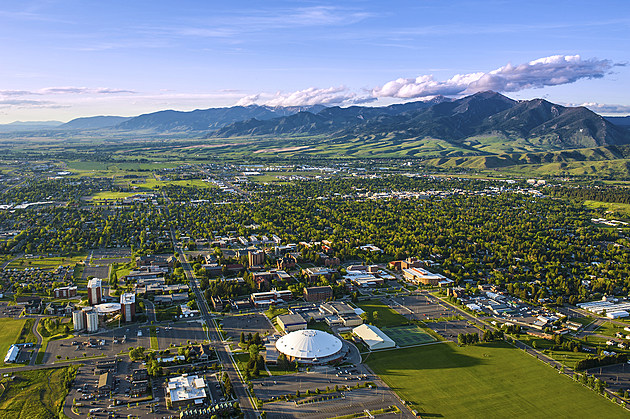 MSU and Bozeman aerials, June 2014. MSU photo by Kelly Gorham