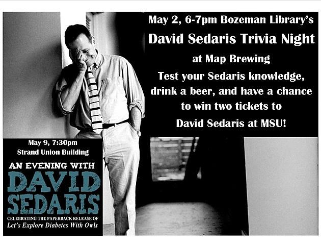 David Sedaris 2016 - courtesy Bozeman Public Library