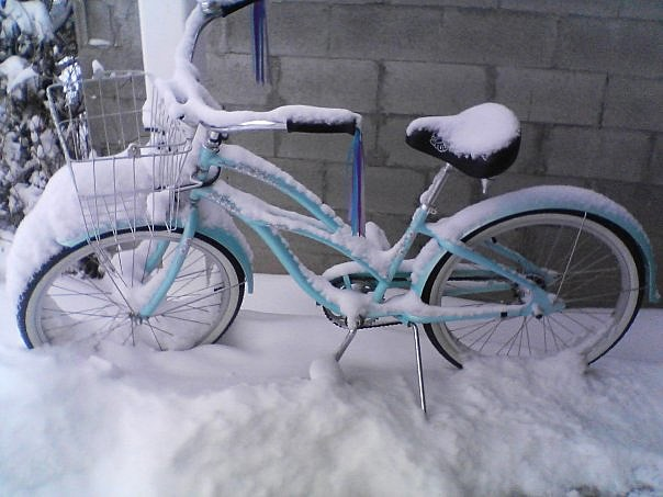 Bike in snow/KMMS