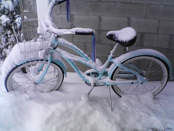 Bike in snow/KMMS