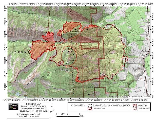 lion roaring fire map