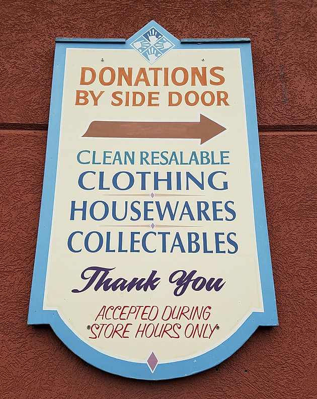Sacks donations are accepted during business hours