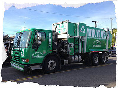 Recycling Truck - photo Michelle Wolfe