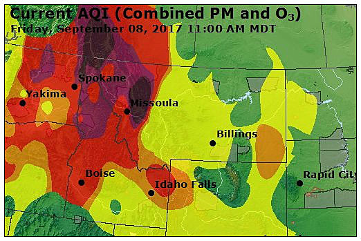 Montana Air Quality Map Sept 8