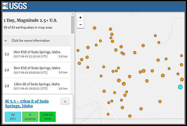 USGS Soda Springs Idaho Sept 2 - 3